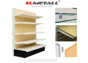 China Medium Duty Retail Store Shelving With MDF Wood Back Infills For Hardwares Store on sale
