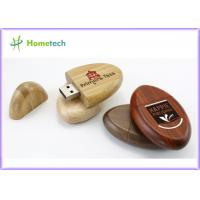 Pocket Environmental Oval 2G , 4G , 8G Wood USB Flash Drives for Windows 2000