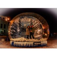 Xmas Promotion Large Inflatable Globe Fake Snow Type Clear PVC Materials
