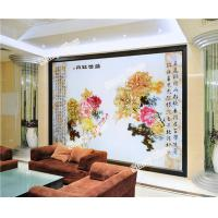 Decorative Engraved Glass Wall Background
