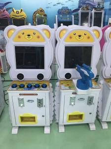 China Kids Coin Operated Amusement Machines , Cute Bear Pat Music Video Game Gift Lottery Game Machine on sale