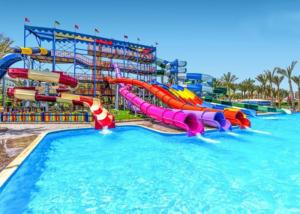 Quality Fiberglass Big Water Slides Water Park Equipment Corrosion Resistance for sale