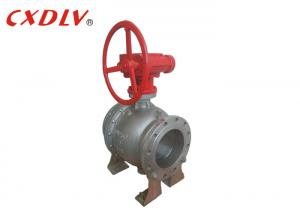China Flange End Gear Operation Trunnion Type Ball Valve Casting Stainless Steel with Worm Gear on sale