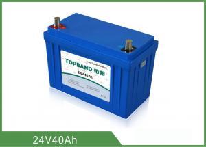 China Safety 24V 40Ah Medical Equipment Battery Backup Nano LiFePO4 Material on sale