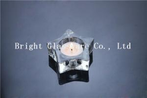 China Hot selling crystal glass candle holder with cheap price on sale