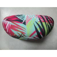 Zebra Cloth Leather Clamshell Eyeglass Case Customised With Golden Foil Printing