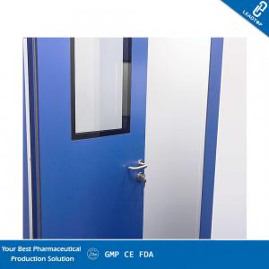 China Customized Laboratory Clean Room Doors Anti vapor Coating With Elbow Pull Handle on sale