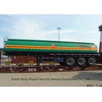 Liquid Flammable Tank  Semi Trailer 3 Axles For Diesel ,Oil , Gasoline, Kerosene 45000Liters Transport