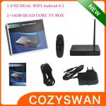 China Full High Definition 1080p 3D Android Smart TV Box H5 Cortex A9 1.6GHZ Bluetooth V4.0 wholesale