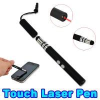 China LED Capacitive Stylus Pen / Red Laser Pointer Pen Flashlight Earphone Dust Proof on sale
