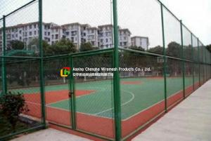 China Sports Field Wire Mesh Fence Stainless Steel Green Color Gavlanized Finish on sale