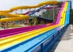 Multi Color Commercial Fiberglass Water Slides Outdoor Play Equipment