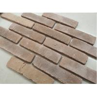 China Clay facing exterior thin brick veneer rustic type thin brick tiles for hotels wall decoration on sale
