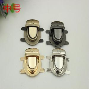 China Bag hardware accessory nickel color zinc alloy metal push lock fittings for purse on sale