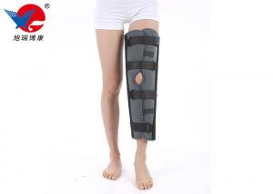 China Elastic Gray Knee Support Brace , Easy Wearing Breathable 3 Panel Knee Immobilizer on sale