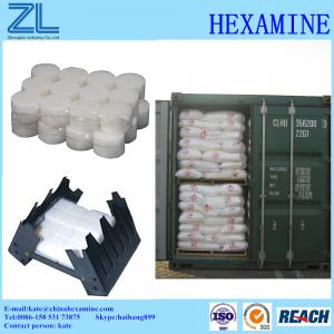 China Hexamine tablets 99% for solid fuel tablets on sale