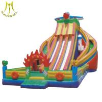 Hansel inflatable jumping bouncer castle with inflatable island water slide