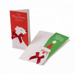 China Custom Design Christmas Paper Greeting Card For Promotion Gifts Handmade Greeting Card with Envelope on sale