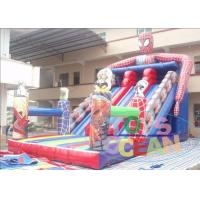 Colorful Residential Water Inflatable Slides Super Hero With Digital Printing