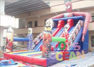 China Colorful Residential Water Inflatable Slides Super Hero With Digital Printing on sale