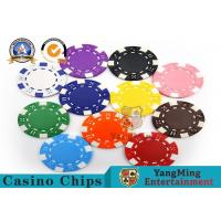 China PMS Printing Casino Poker Chips Abs Plastic Inner Steel Core Environmental Protection Material on sale