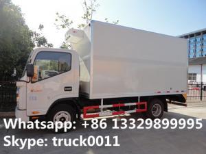China transporte termo de la carne del rey del mini Jac pequeño camión del congelador de 3ton que refresca camiones refrigerados del jac de van truck los mini on sale