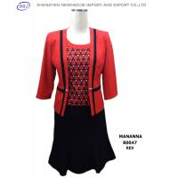 High quality ladies office skirt suit ladies formal skirt suit Red/Blue