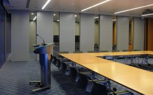 China Multi Color Soundproof Material Conference Room Sliding Folding Partition Wall on sale