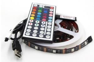 China Paypal Accept SMD5050 Tv 5V USB LED Strip RGB Light With Remote on sale