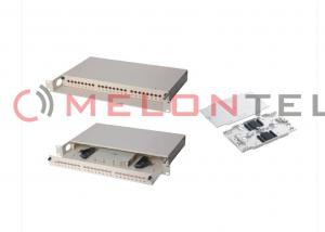 China SC / FC / ST / LC Rack Mount Fiber Optic Patch Panel 24 Core Cold Rolled Steel Material on sale