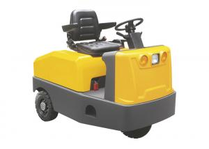 China Yellow 3 Ton Small Electric Tractor , Car Shape Battery Driven Electric Tow Tugs on sale