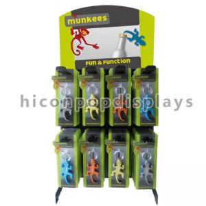 China Metal Hook Accessories Display Stand Tabletop Custom Advertising Keyring Display Rack on sale