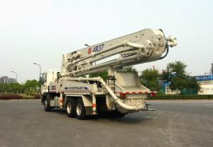 China 265kW 6x4 Mobile Truck Mounted Concrete Pump Trucks Ssab Steel 37m on sale