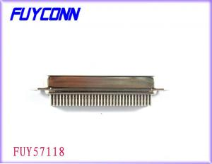China Amphenol 64 Pin IDC Male Connector Plug Crimping For Cable-to-PC Board on sale