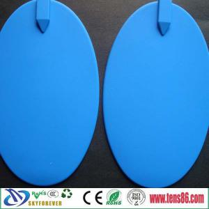China 158X95mm muscle stimulator silicon rubber electrodes pads for ems /tens units on sale