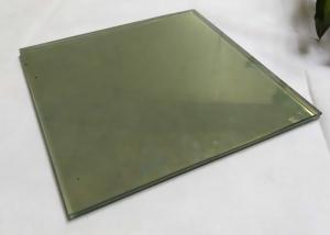 China 24k Gold Solid Double Laminated Glass , Frameless Tinted Reflective Glass on sale