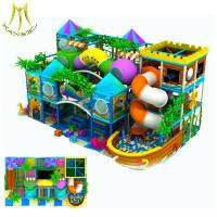 Hansel hot selling plastic house children play station play ground for kids
