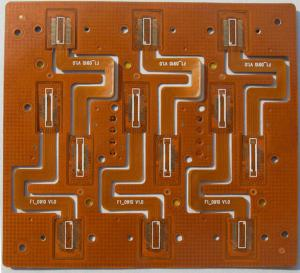 China Circuit Board Flexible PCB PCBA Yellow Solder Mask Polyimide Material W / Finished on sale