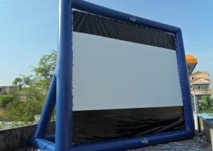 China Blue Project Screen Inflatable Movie Screen For Outdoor Use on sale