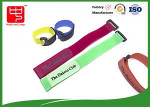 China Printing hook & loop fastener / custom logo hook and loop cinching straps on sale