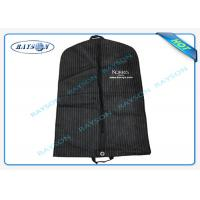 Eco Friendly Fold Down Non Woven Suit Cover Zipper Garment Bags Recyclable