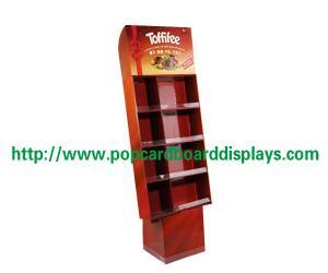 China 4 стойки дисплея пола картона яруса сверхмощных рифлёных с печатанием on sale