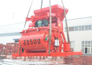 China Twin Shaft Concrete Mixer Machine Dual Motor Single Axle Low Energy Consumption on sale