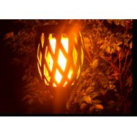 Flickering Solar Led Garden Lights With Dance Flame For Pathway Yard Decoration