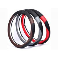 New material car steering wheel cover made by super fiber leather in various colors