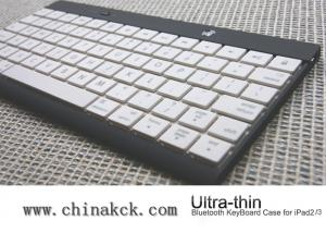China New design-Ultra thin Wireless Bluetooth Keyboard Case for iPad2 New iPad3-White on sale