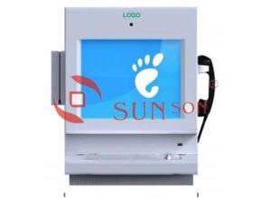 China Shopping Mall Hotel Desktop Kiosk Advertising With IP Phone Camera / Metal Keyboard on sale