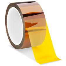 China 1mil Amber Polyimide Film Tape High Temperature Resistant for PCB Solder Mask on sale