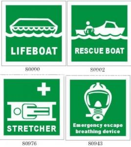 China photoluminescent film marine safety signs and solas reflective tapes on sale