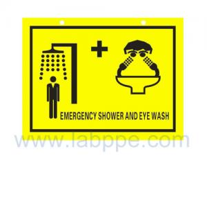 Quality SHS2030-Safety shower and eyewash sign,PVC safety sign for sale